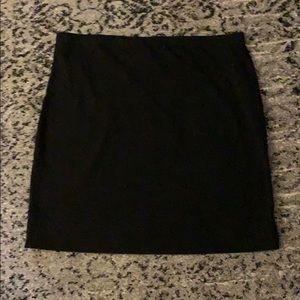 Plain black cotton skirt Woman's L